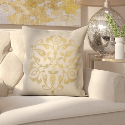 Southall 100% Linen Throw Pillow Cover Size: 18 H x 18 W x 0.25 D, Color: GoldGray