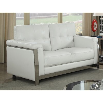 Sandford Loveseat Upholstery: White