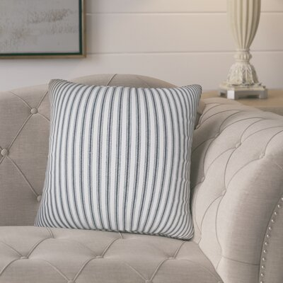 Pinion Stripes Cotton Throw Pillow Color: Gray