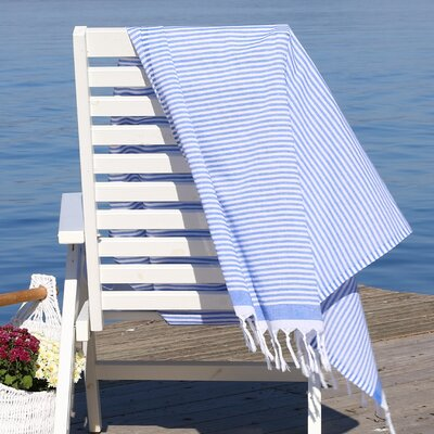 Soft Stripes Pestemal Beach Towel Color: Royal Blue