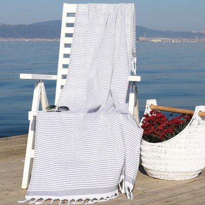 Soft Stripes Pestemal Beach Towel Color: Light Gray