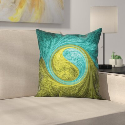 Ying Yang Decor Asian Ethnic Square Pillow Cover Size: 16 x 16