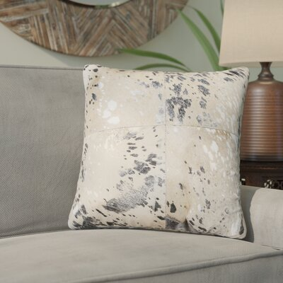 Graham Leather Throw Pillow Color: Silver/Gray