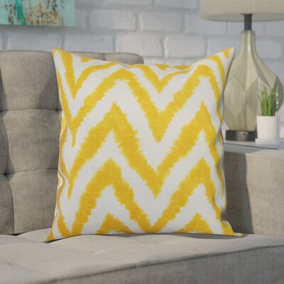 Dawkins Cotton Throw Pillow Color: Corn Yellow, Size: 18 H x 18 W