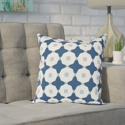 Waller Square Throw Pillow Size: 20 H x 20 W, Color: Blue