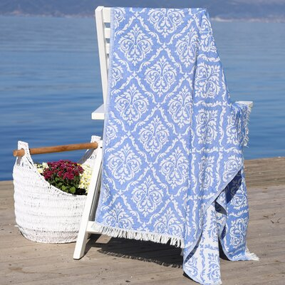 Damask Delight Pestemal Beach Towel Color: Royal Blue