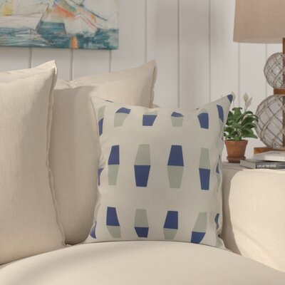 Crider Bowling Pins Geometric Print Indoor/Outdoor Throw Pillow Color: Blue, Size: 18 x 18