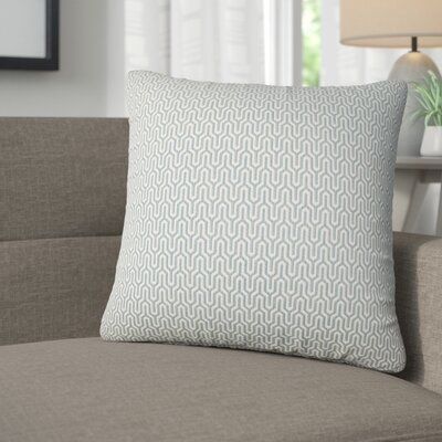 Ivanna Geometric Cotton Throw Pillow Color: Sky
