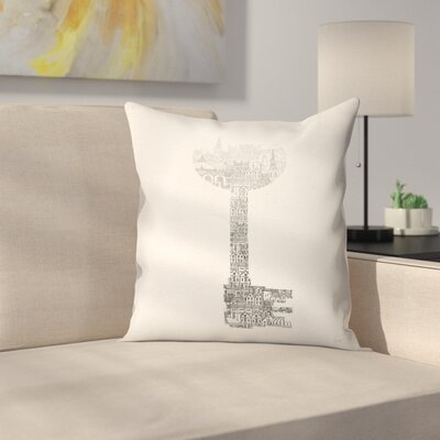 Key Throw Pillow Size: 14 x 14