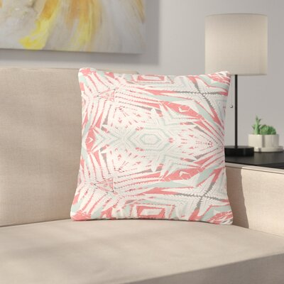 Alison Coxon Planthouse Outdoor Throw Pillow Size: 18 H x 18 W x 5 D, Color: Coral