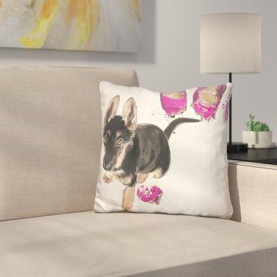 Naughty Shepherd Throw Pillow