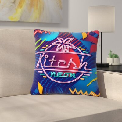 Roberlan Kitsch Neon Outdoor Throw Pillow Size: 18 H x 18 W x 5 D