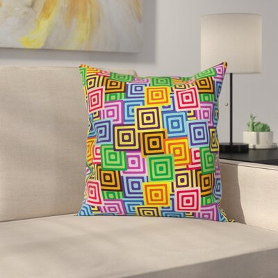 Modern Ethnic Africa Tribal Cushion Pillow Cover Size: 18 x 18