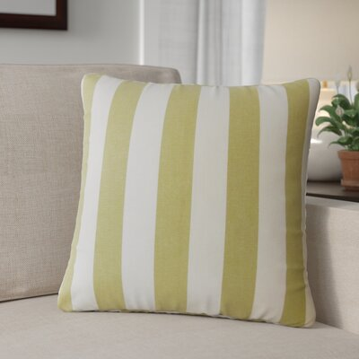 Grossman Striped Cotton Throw Pillow Color: Avocado