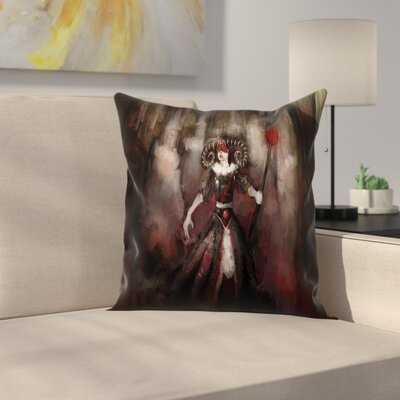 Evil Woman Myth Square Pillow Cover Size: 18 x 18