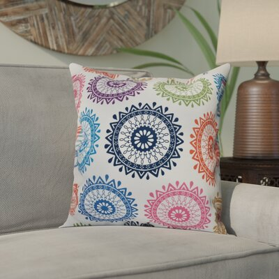 Meetinghouse Groovy Geometric Print Throw Pillow Size: 26 H x 26 W, Color: Navy Blue