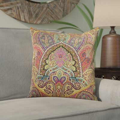 Wynnfield Throw Pillow Color: Gemstone, Size: 18x18