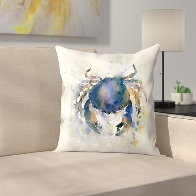 Blue Crab Throw Pillow Size: 14 x 14