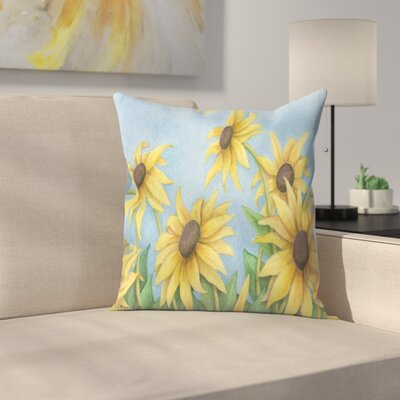 Sunflowers Throw Pillow Size: 18 x 18
