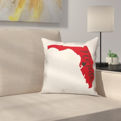Florida Pride Square Throw Pillow