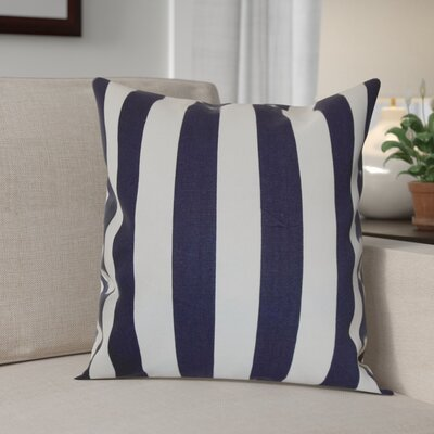Knotts Outdoor 100% Cotton Throw Pillow Color: Black / Natural, Size: 20 H x 20 W