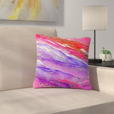 Agate Magic Throw Pillow Size: 16 H x 16 W x 6 D, Color: Red / Lavender