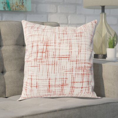 Wyss Cotton Throw Pillow Color: Coral / White