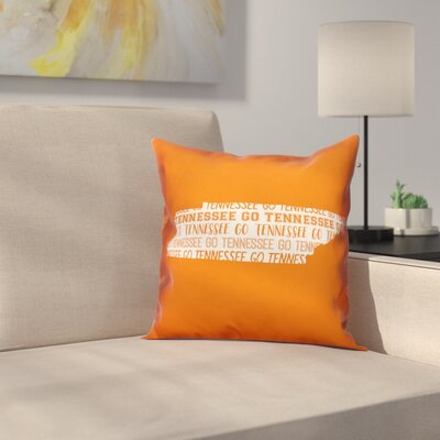 Tennessee Go Team Throw Pillow Color: Orange