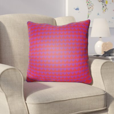 Colinda Square Throw Pillow Size: 18 H x 18 W x 4 D, Color: Red