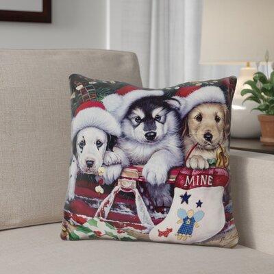 Berkey a Tail Wagging Christmas Throw Pillow