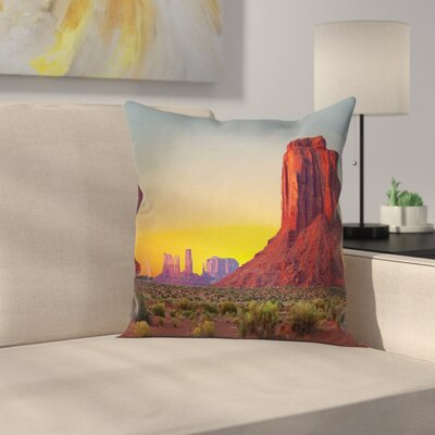 Fabric Sunset at Valley Nature Square Pillow Cover Size: 16 x 16