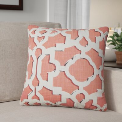 Freeburg Geometric Cotton Throw Pillow Color: Sunrise