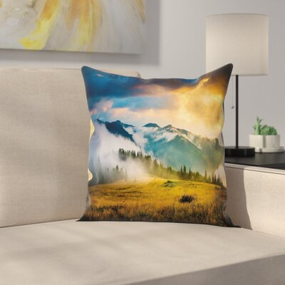 Landscape Square Pillow Cover Size: 24 x 24
