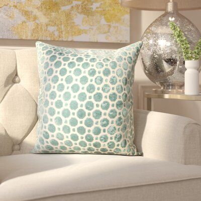 Carlie Velvet Throw Pillow Color: Turquoise, Size: 18 H x 18 W