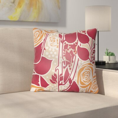 Capron Throw Pillow Size: 20 H x 20 W x 4 D, Color: Red/Orange/Tan