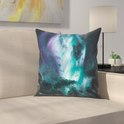 Luke Gram Aurora Borealis Throw Pillow Size: 18 x 18