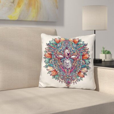 Heartofmaskbot Throw Pillow