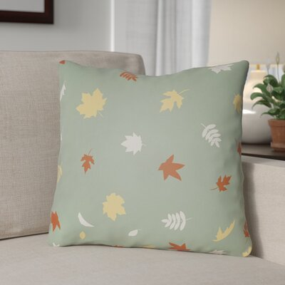 Falling Leaves Indoor/Outdoor Throw Pillow Size: 20 H x 20 W x 4 D, Color: Green/Orange/Yellow