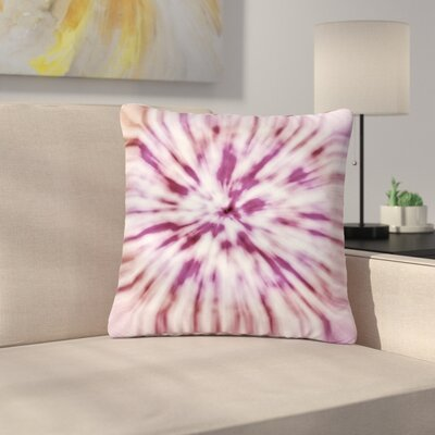 Nika Martinez Spring Tie Dye Outdoor Throw Pillow Color: Pink, Size: 16