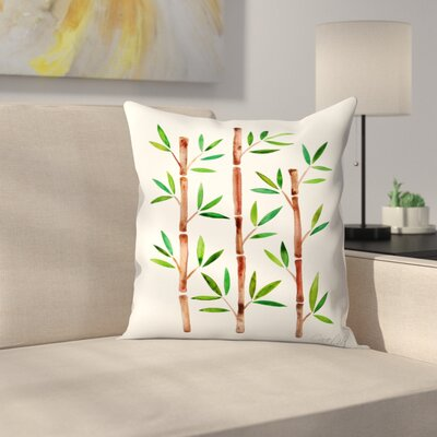 Bamboo Throw Pillow Size: 16 x 16