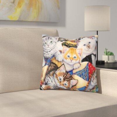 Cozy Kittens Throw Pillow