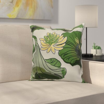 Memmott Throw Pillow Color: Green, Size: 16 x 16