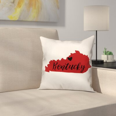 Kentucky Pride  Square Throw Pillow