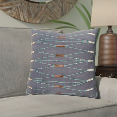 Chopra Cotton Throw Pillow Color: Blue/Green