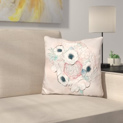 Vintage Bouquet Throw Pillow