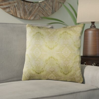 Antram Silk Throw Pillow Size: 20 H x 20 W x 4 D, Color: Neutral/Green