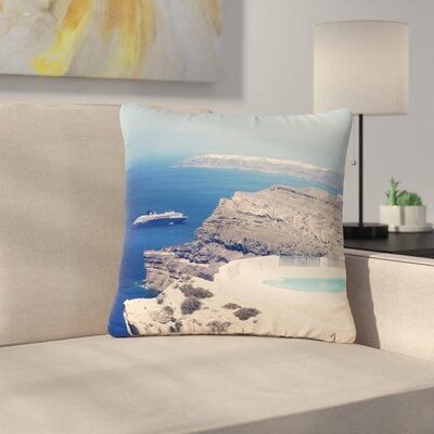 Sylvia Coomes Greek Paradise Outdoor Throw Pillow Size: 16 H x 16 W x 5 D