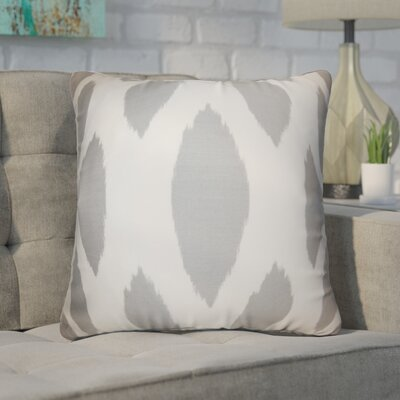 Witten Ikat Cotton Throw Pillow Color: Light Gray