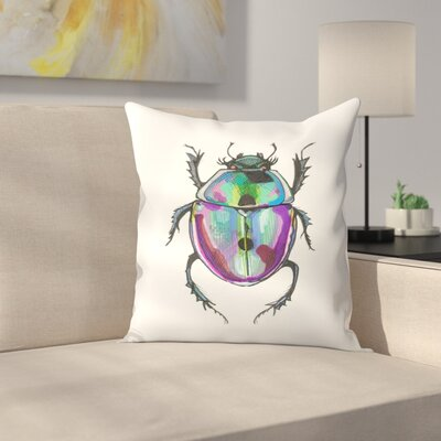 Beauty Bug Throw Pillow Size: 18 x 18