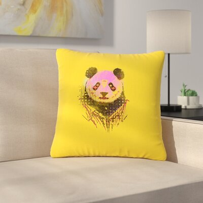 BarmalisiRTB Dandy Panda Outdoor Throw Pillow Size: 16 H x 16 W x 5 D